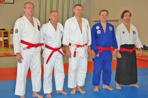 Die fünf Grossmeister Pedro Dabauza, Charlie Lenz, Dr. Peter Schillinger, Dr. Franz Knafl und Krzysztof Staniszewski (v.l.n.r.)