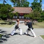 Bun Kai Übungen im Tempel mit Maurice Roggero, 7. Dan Shorin Ryu Karate und 7. Dan Kobudo