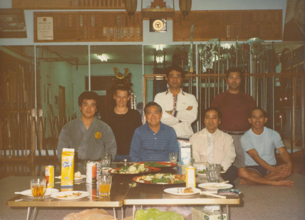 Abschieds-Apero mit allen Grossmeistern im Matayoshis Dojo