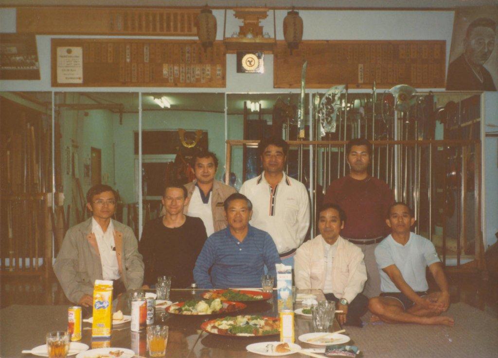 Abschieds-Apero im Matayoshis Honbu Dojo Okinawa
