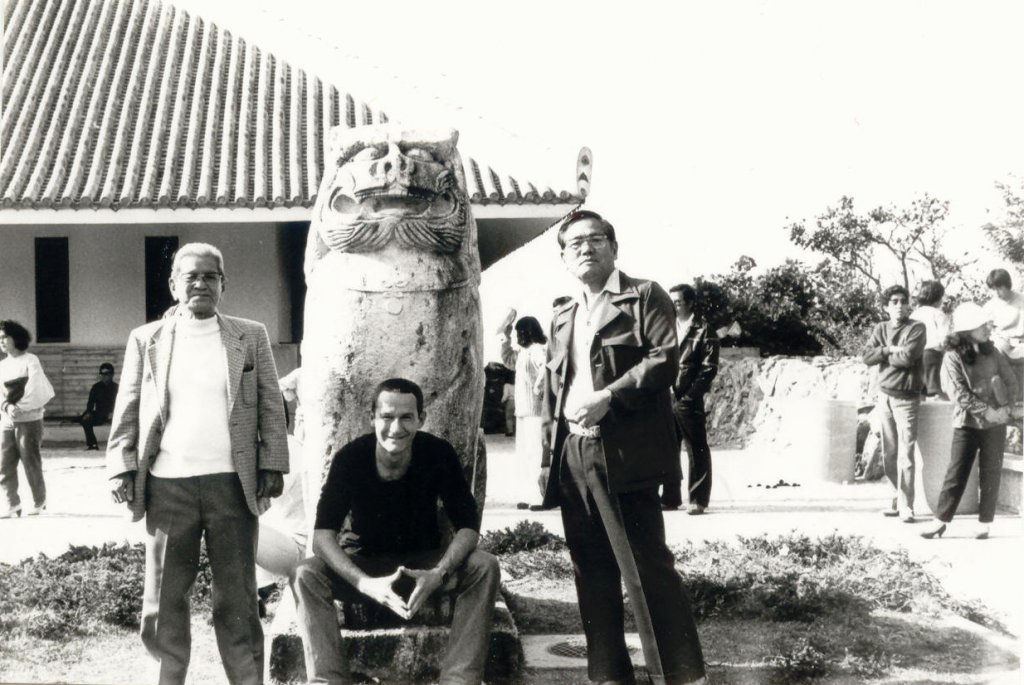 Ausflug mit den Grossmeistern Matayoshi 10. Dan (rechts) und Sato 10. Dan (links)