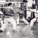 Bo Partnerübung Angriff und Abwehrtechnik mit Sensei Gakia und Oshiro