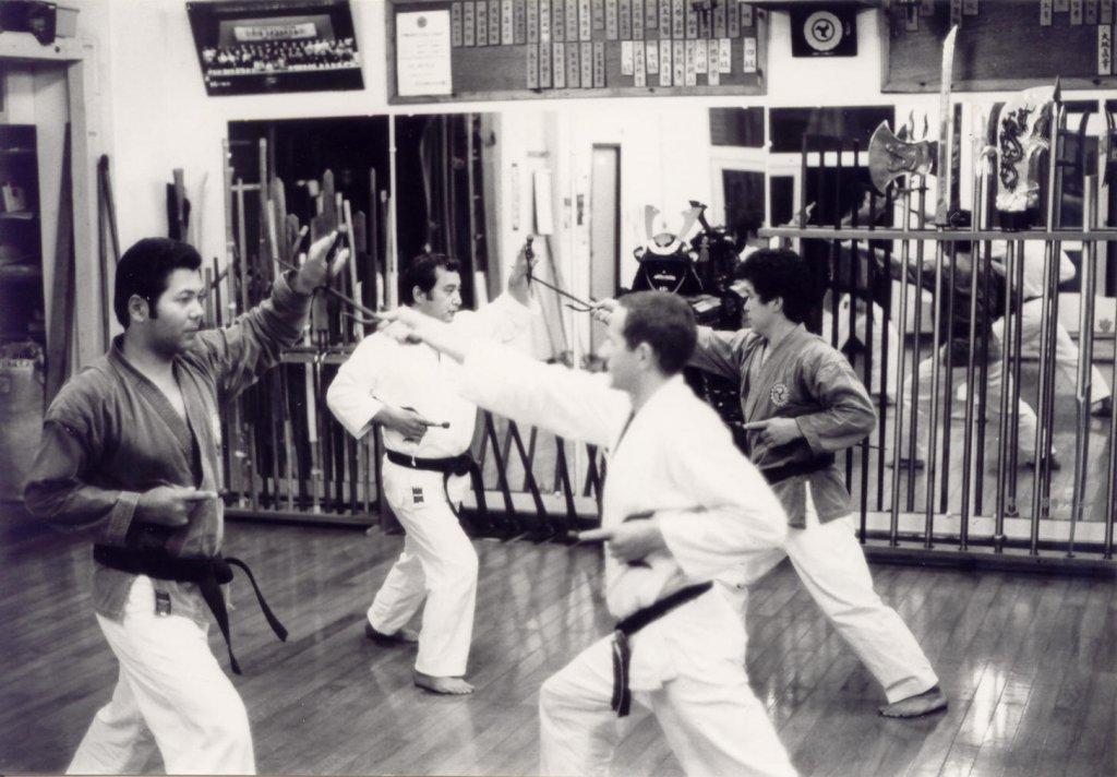 Sai-Kumite Partnerübung mit Sensei Gakia und Oshiro