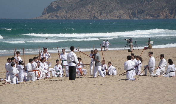 Kobudo on the Beach