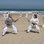 Kampfübung mit Monica Couto, Chefinstruktor Lisabon