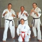 Die Churer Karatekas mit Hanshi Arneil, Edi, Toni und Sonja