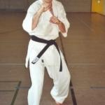 Toni Gansner nach seiner Prüfung für den 1. Dan im Kyokushinkai Karate